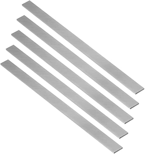 Utoolmart 旋盤HSSツールビット旋盤 バイト ボーリング 長方形デザイン 旋盤·フライス盤 切削工具 HSS シルバートーン 高速度鋼 3*20*200mm 2pcs