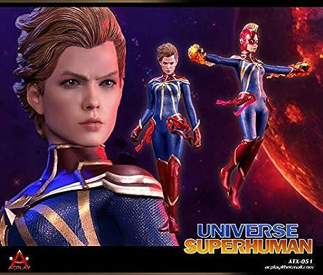 ACPLAY 1/6 フィギュア用 宇宙 スーパヒューマン 素体 ダブルヘッドセット ATX051 Universe Superhuman 女性 セクシー美人 火の効果