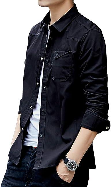 [meryueru(メリュエル)] ベーシック カラー シャツジャケット カジュアル コットン シャツ 春 秋 冬 大人 メンズ