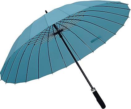 ORIENEX(オリエンネックス) 長傘 大きい傘 レディース傘 高強度24本骨傘 紳士傘 メンズ 超強耐風 雨に濡れると花が浮き出る 敬老の日 全14色 (水色)