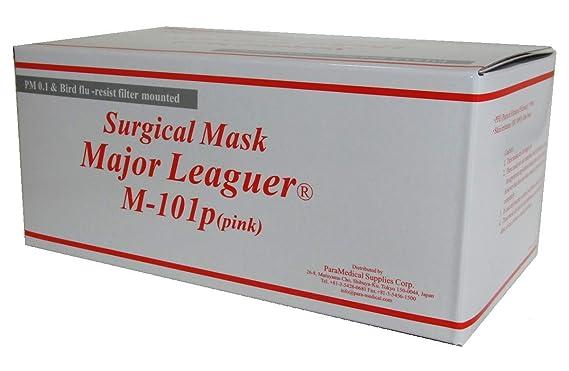 サージカルマスク メジャーリーガー M-101p ピンク 1箱(50枚入)