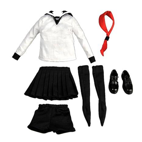 Perfk 1/6スケール セーラー服 きせかえ人形用 アクションフィギュア おもちゃ 12インチ 女子高生制服
