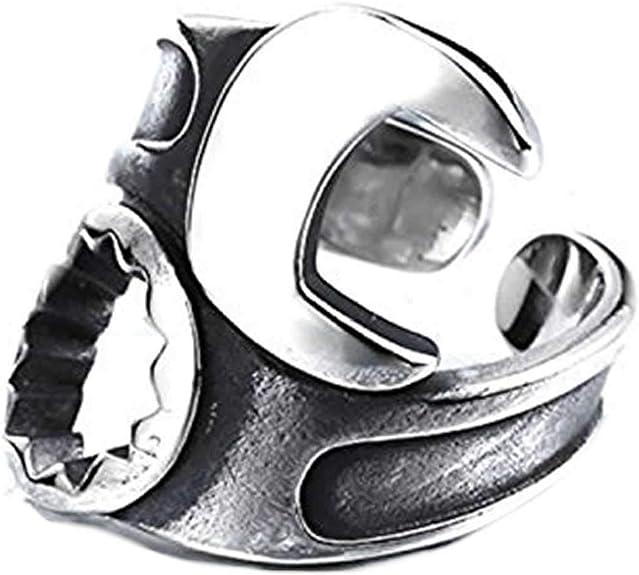 スパナレンチステンレスリング(RMT408)サイズ/15号 フリーサイズ 工具 ペンチ ステンレスリング 指輪 サージカルステンレス316L メンズ レディース ペアリング ...