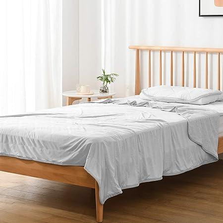 Kumori Towel Blanket, Blanket, Towel, Reversible Air Blanket, Washable, Quilt Ket, Antibacterial, Odor Resistant, Dust Mite Resistant (Single, 140 x 190 cm), Light Gray)