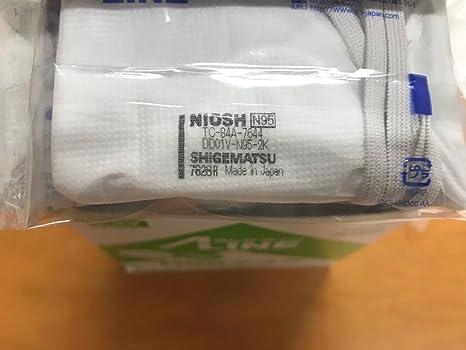 【日本製PM2.5対応高機能マスク】DD01V-N95-2K呼吸がしやすい排気弁付き(名刺サイズ個包装、10枚入1箱)シゲマツ使い捨て式防じんマスク 重松製作所製
