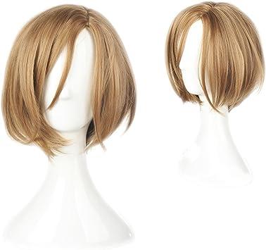 耐熱コスプレウィッグ 二番目の城 摂津 万里 ハロウィン 仮装 wig +おまけ2点