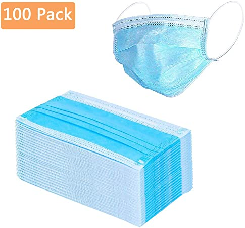 マスク 衛生マスク 医療用マスク サージカル‐テープ プリーツタイプ レギュラーサイズ おやすみマスク 花粉症やインフルエンザなどの感染症予防用「ブルー 100点セット」