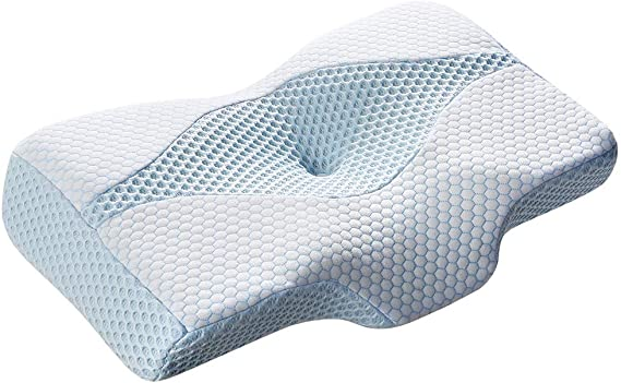 MyeFoam 日本特許品 枕 安眠 人気 肩 こり まくら 低反発 中空設計 頭・頚 椎・肩をやさしく支える ストレ ートネック 頚 椎サポート 快眠枕 仰向き 横向き プ...