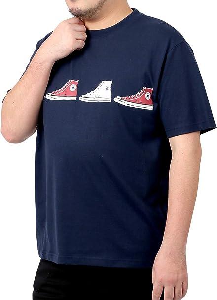 [コンバース] Tシャツ メンズ おおきいサイズ 半袖 シューズ プリント