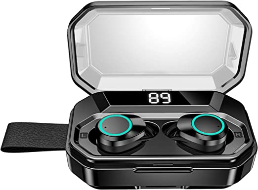 【進化版 4000mAh充電ケース 最大500分間音楽再生 LEDディスプレイ Bluetooth5.0 EDR搭載 IPX7完全防水 超大容量充電ケース付き 】Blueto...