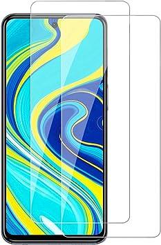 【2枚セット】Xiaomi Redmi Note 9s 用 ガラスフィルム 硬度9H/日本製素材旭硝子製/高透過率 Xiaomi Note 9s 用 強化ガラス フィルム 指...