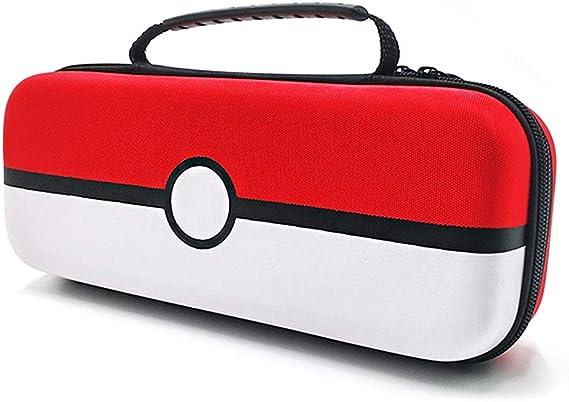 Yullmu Nintendo Switch用ケース モンスターボール用保護カバー付 ガラスフィルム付 任天堂スイッチ用ケース EVA 耐衝撃全面保護 ポケットモンスターボールを収納 カード9枚 充電器を収納