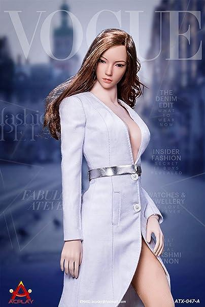 ACPLAY ATX047A シームレス 超柔軟 美人 女性 可動 フィギュア用 道具 コート 靴 ブーツ 靴下 セット ホワイト