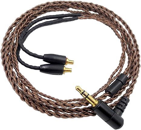 イヤホン ヘッドホン アップグレードライン バランスライン A2DCステレオプラグ 高音質再生 耐久 交換用 高質量 OFC for Audio-Technica ATH-C...