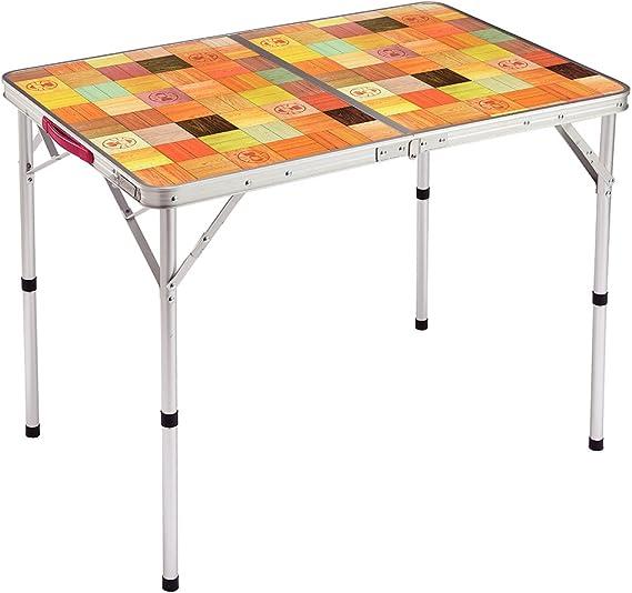 コールマン(Coleman) テーブル ナチュラルモザイクリビングテーブル 90プラス
