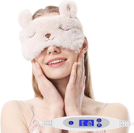 AROMA SEASON ホットアイマスク 蒸気でホットアイマスク 繰り返し 安眠グッズ ドライアイ 眼瞼炎 疲れ目を解消 かわいい 誕生日プレゼント ギフトケース(ウサギ)