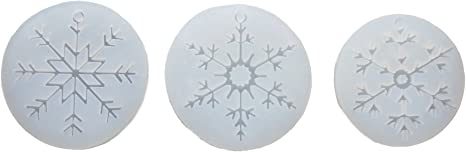 【Ever garden】 レジン 雪 結晶 3個セット シリコンモールド ネックレス アクセサリー パーツ 作成 UVレジン エポキシ樹脂 樹脂粘土 型 抜き型 キット 道具