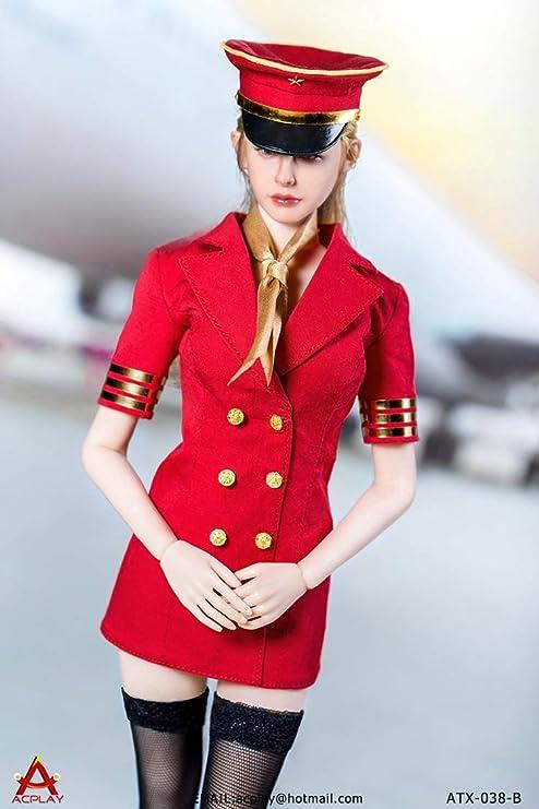 1/6 フィギュア 用 アクセサリー/ACPLAY ATX-038-B セクシー 飛行機客室乗務員 CA スチュワーデス制服セット(素体とヘッドは含まりません)