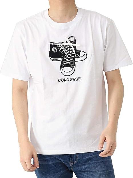 コンバース Converse クルーネック Tシャツ 無地 ワンポイント 半袖 半そで チャックテイラー