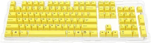 FILCO Majestouch専用 104英語配列 2色成型 カスタムカラーキーキャップセット 黄 SPKCS104Y2