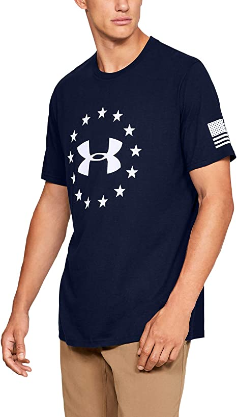 Under Armour Freedom Logo T-Shirt, Academy//White, X-Large