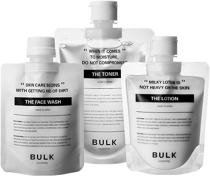 バルクオム (BULK HOMME) バルクオム フェイスケアセット(メンズスキンケア) 洗顔&化粧水&乳液 プレゼント袋なし