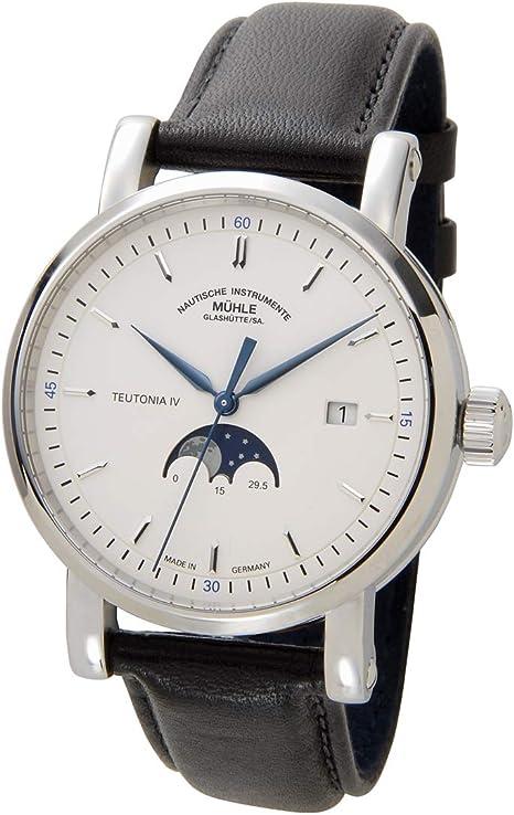 ミューレグラスヒュッテ MUHLE GLASHUTTE メンズ 腕時計 M1-44-05-LB 自動巻き ムーンフェイズ 革ベルト [並行輸入品]