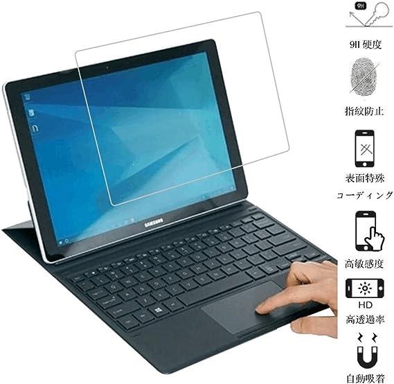 Vicstar Samsung Galaxy Book 10.6 強化ガラスフィルム 国産ガラス素材 液晶保護フィルム高透過率 耐指紋 撥油性 気泡レス飛散防止 表面硬度9H 超薄0.3mm 2.5D ウンドエッジ加工