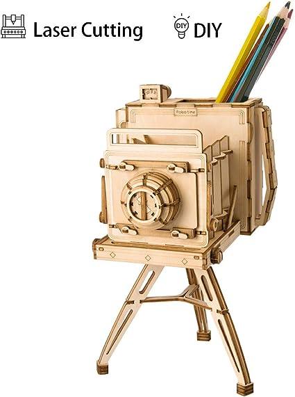 Robotime 立体パズル 木製 レーザー仕上 DIY クラフト 子供 プレゼント 玩具 (カメラ)