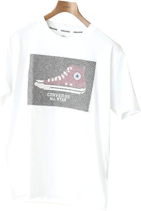 [コンバース] CONVERE 半そで Tシャツ メンズ チャックテイラー 無地 ワンポイント 刺繍