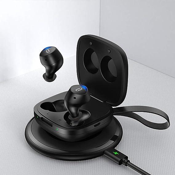 TaoTronics Duo Free+ Bluetooth 完全ワイヤレスイヤホン IPX4 防水&汗耐性 7時間再生 快適フィット ワイヤレス充電対応 TT-BH063