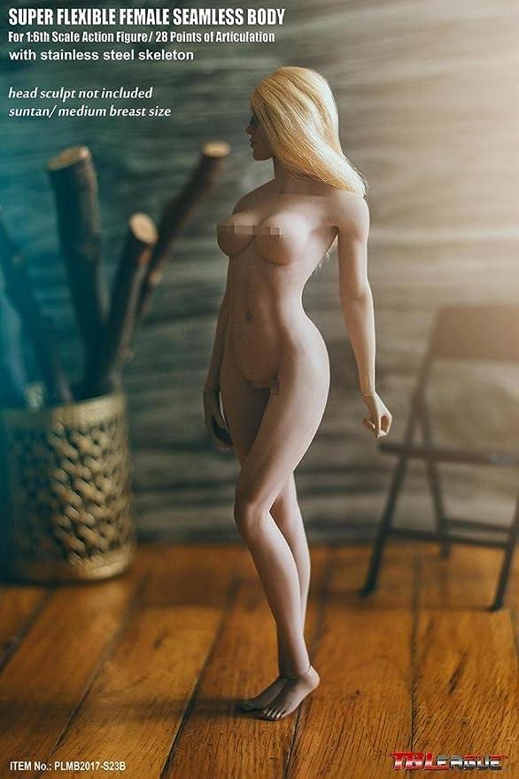 秘部・リアル【TBLeague】1/6 フィギュア 女性 超柔軟性・シームレス 素体 サンター・肌色 ペールシリーズ バストサイズM PLMB2017-S23B [アダルト]