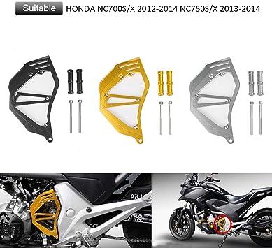 FATExpress オートバイ CNCアルミ 前面 鎖 ガード スプロケット エンジン カバー 2012 2013 2014 Honda NC700S/X NC750S/X...