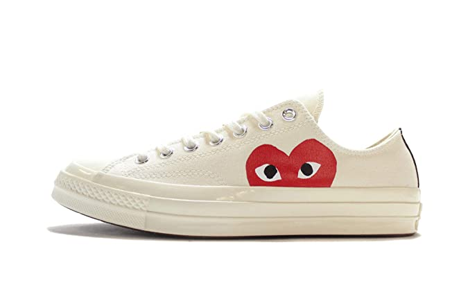 Converse Chuck 70 CDG Play (Milk/White/High Risk Red,12)