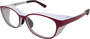 医師が考えたハイドロ銀チタングラス ウェリントン Sサイズ エンジ [度付きレンズ対応] 曇り防止加工レンズ