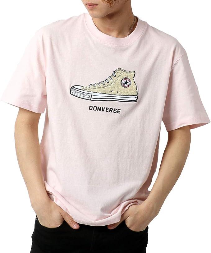 [コンバース] Tシャツ メンズ 半袖 シューズ サガラ 刺繍 スニーカー ティーシャツ