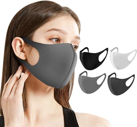 Naturali マスク 立体型 洗えるマスク 繰り返し使用可 男女兼用 花粉症 対策 予防 ウレタン 6枚セット ナチュラルアイ HOMARE株式会社 (ブラック6枚)