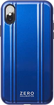 【iPhoneXS ケース】ZERO HALLIBURTON(ゼロハリバートン) Hybrid Shockproof case for iPhoneXS 新型iPhone スマホケース 米軍MIL規格取得 耐衝撃 (Blue ブルー)