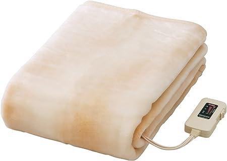 Sugiyama 電気しき毛布 ロングサイズ 洗える毛布 ダニ退治機能 日本製 ベージュ NA-08SL(BE)