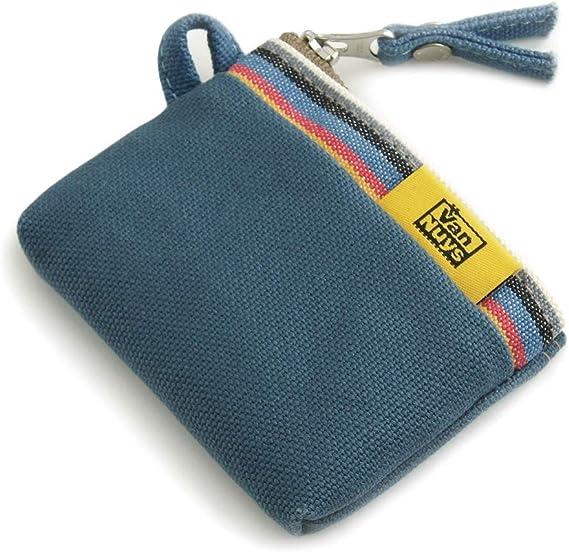バンナイズ ファスナーコインケース ( 8号 帆布 製 : ブルー × ストライプ )