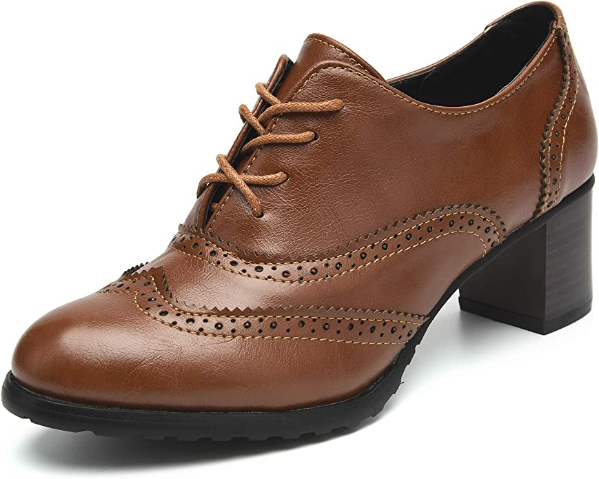 [xybags] レディース レースアップシューズ オックスフォード 女性 ローファー ハイヒール 美脚 ファッション 合わせやすく 黒 通学 通勤 ブーツ