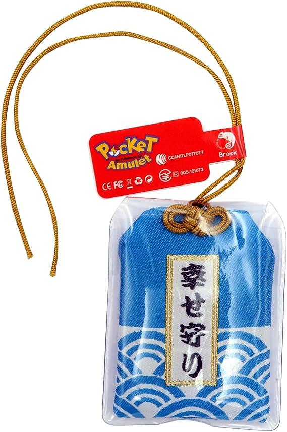 Brook 青い ポケットアミュレット Pocket Amulet 可愛いの幸せ守り ポケモンGO用の自動キャッチ収集アイテム iOS Androidに対応