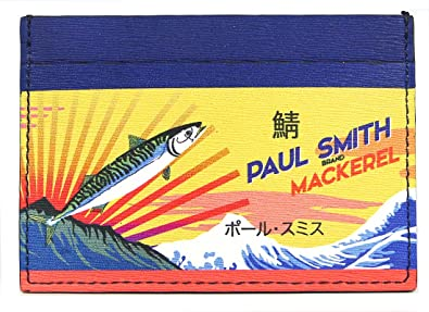Paul Smith Paul Smith Card Case (Navy/Yellow) Men Wallet cchldr tunamack [auxc 4768 W957 10]