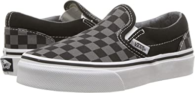 [バンズ] キッズスニーカー・靴 Classic Slip-On (Little Kid/Big Kid) (Checkerboard) Black/Pewter 4 Big...
