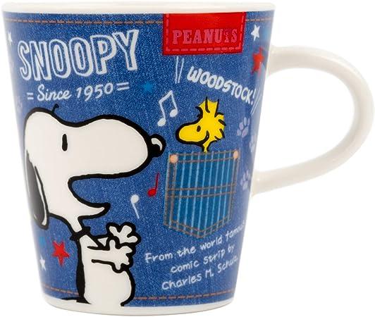 Snoopy Mug, 8.5 fl oz (250 ml), Denim