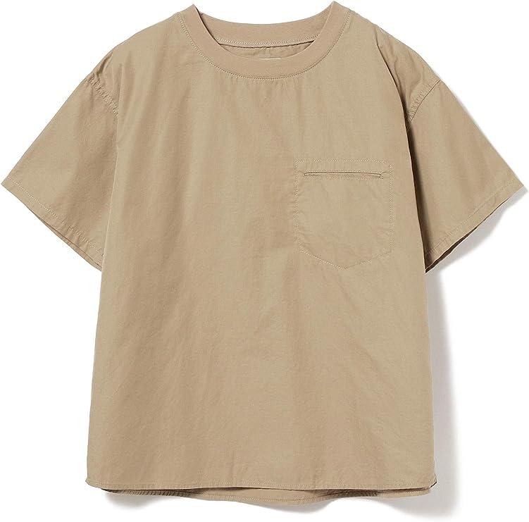 [ビームスボーイ] 半袖シャツ ツイル リブ プルオーバー ショートスリーブ シャツ レディース