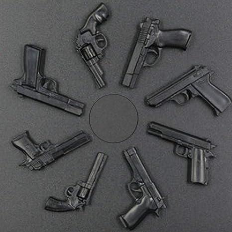 1/6スケール ハンドガン コレクション 模型 ジオラマ フィギュア ( 8モデル ) ベレッタ、コルト・パイソン、357マグナム、デザート・イーグルなど
