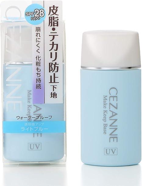セザンヌ 皮脂テカリ防止下地 ライトブルー 30ml テカリにくい 崩れにくい 化粧下地 単品
