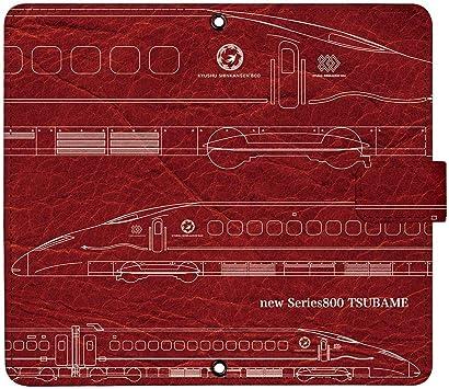 iPhone7 Plus ケース [デザイン:20.新800系ツバメ-線画-red/マグネットハンドあり] 新幹線 JR東日本 手帳型 スマホケース カバー アイフォン ip...