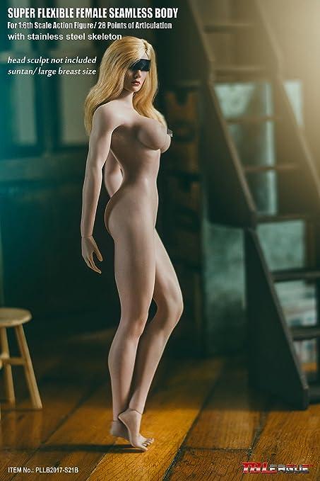 【TBLeague】 1/6スケール 超柔軟性 シームレス 女性素体 PLLB2017-S21B 最新豊満タイプ サンタンシリーズ バストサイズL 小麦肌色 [アダルト]